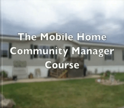 Mobile Home Park Manager Course